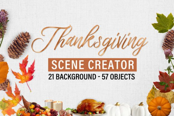Print on Demand: Thanksgiving Scene Creator Graphic Scene Generators By The Rose Mind