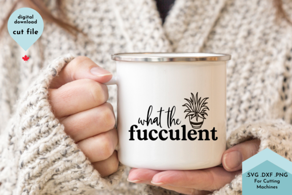 Print on Demand: WTF What the Fucculent - Funny Plant Svg Graphic Crafts By Lettershapes