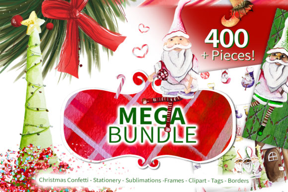 Print on Demand: Xmas Lover Mega Bundle Graphic Graphic Templates By Digital Doodlers