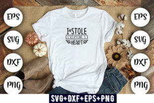 Print on Demand: Baby Funny : I Stole Everyone's Heart Grafik Druck-Templates von Design_store