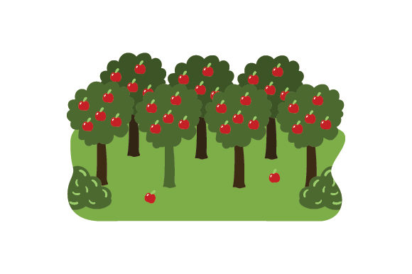 Apple Orchard Nature & Outdoors Craft Cut File By Creative Fabrica Crafts