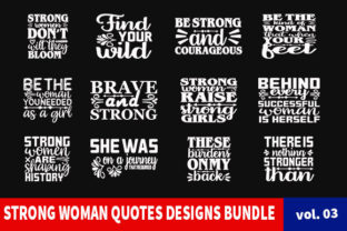 Print on Demand: 20 Strong Woman Quotes Designs Bundle Graphic Print Templates By Star_Graphics