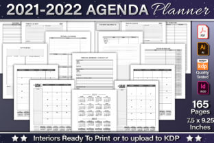 2021-2022 Agenda Planner Template Graphic KDP Interiors By okdecoconcept 1