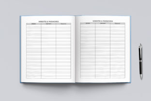 2021-2022 Agenda Planner Template Graphic KDP Interiors By okdecoconcept 8