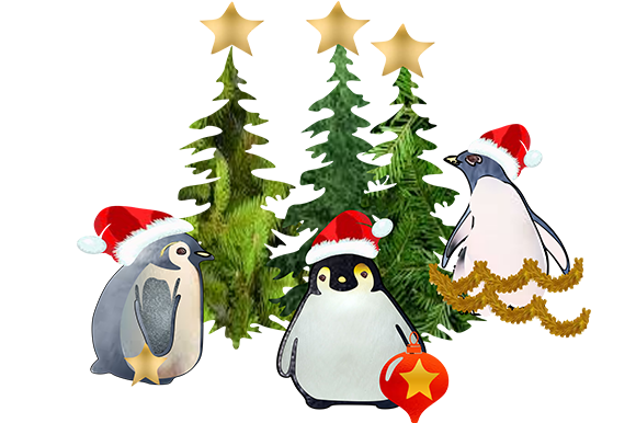 Print on Demand: 7 Christmas Penguin Graphic Illustrations By arts4busykids