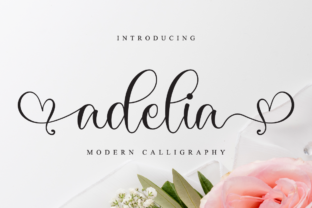 Print on Demand: Adelia Script & Handwritten Font By NissaStudio