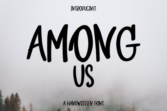 Print on Demand: Among Us Script & Handwritten Font By Wanida Toffy