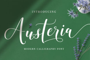 Print on Demand: Austeria Script & Handwritten Font By Mytha Studio