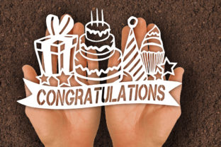 Print on Demand: Birthday Congratulations Papercut SVG Graphic Print Templates By johanruartist