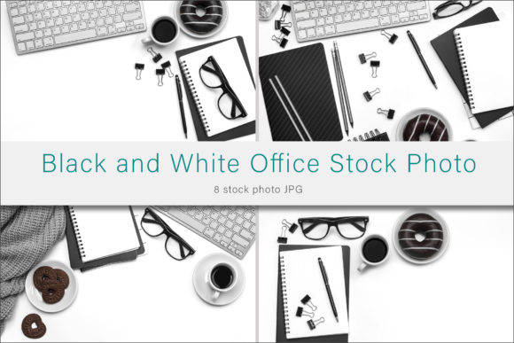Print on Demand: Black and White Office Stock Photos Graphic Photos By AS Digitale