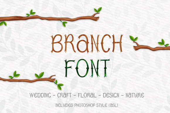 Print on Demand: Branch Display Font By OWPictures