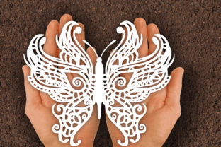 Print on Demand: Butterfly Papercut SVG Graphic Print Templates By johanruartist