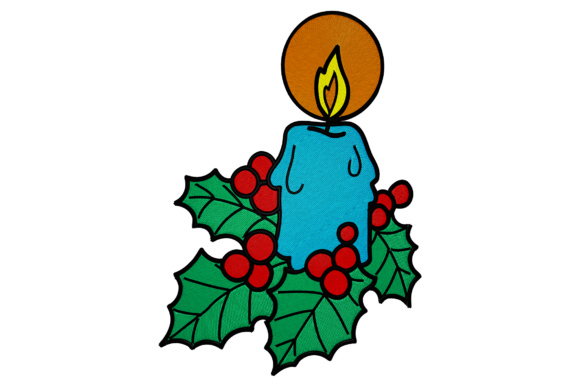 Christmas Candle Embroidery