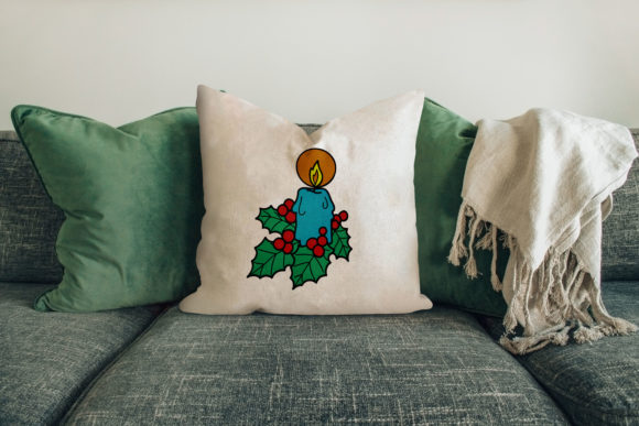 Christmas Candle Embroidery Download