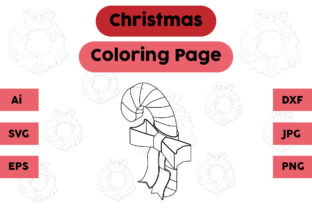 Christmas Coloring Page - Candy 04 Graphic Coloring Pages & Books Kids By isalsemarang
