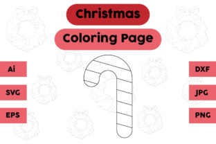 Christmas Coloring Page - Candy 05 Graphic Coloring Pages & Books Kids By isalsemarang 3