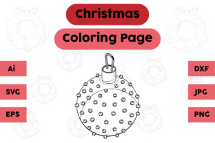 Christmas Coloring Page - Decoration 17 Graphic Coloring Pages & Books Kids By isalsemarang