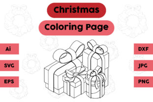 Christmas Coloring Page - Gift 10 Graphic Coloring Pages & Books Kids By isalsemarang