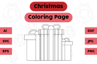 Christmas Coloring Page - Gift 11 Graphic Coloring Pages & Books Kids By isalsemarang 4