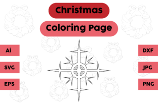 Christmas Coloring Page - Snow 04 Graphic Coloring Pages & Books Kids By isalsemarang 4
