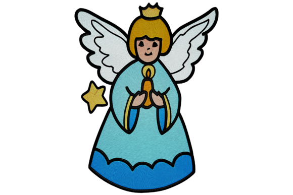 Christmas Holy Angel Embroidery