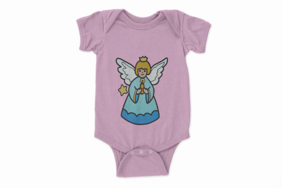 Christmas Holy Angel Embroidery Item
