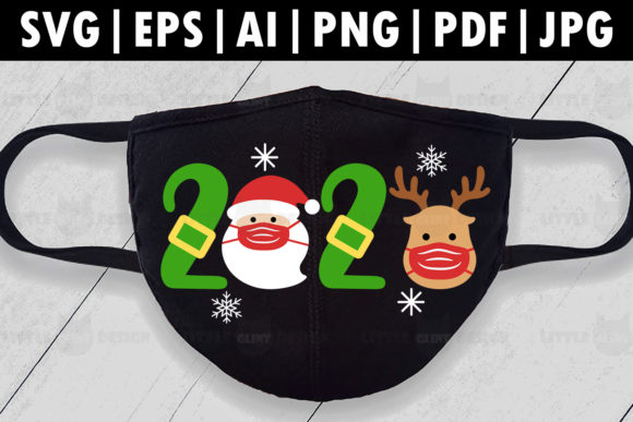 Christmas Mask Graphic Crafts By Glint Design