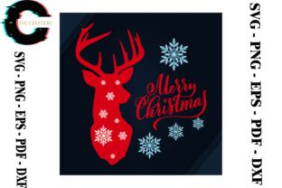 Print on Demand: Christmas Reindeer Decoration Svg Graphic Print Templates By SVG Creation