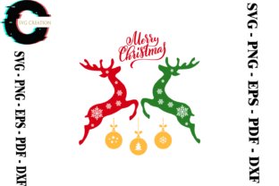 Print on Demand: Christmas Reindeer Vector Clipart Svg Graphic Print Templates By SVG Creation