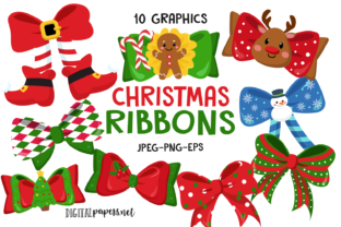 Print on Demand: Christmas Ribbons Graphic Illustrations By DigitalPapers