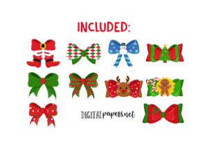 Print on Demand: Christmas Ribbons Graphic Illustrations By DigitalPapers 2