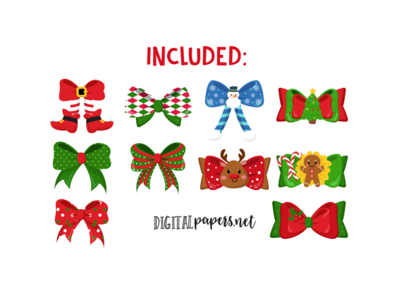 Christmas Ribbons Graphic Download