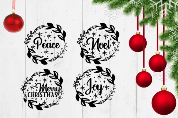 Print on Demand: Christmas Sign Svg Bundle Quotes Graphic Crafts By Sintegra