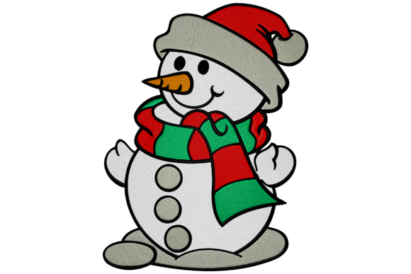 Christmas Snowman Christmas Embroidery Design By Digital Creations Art Studio