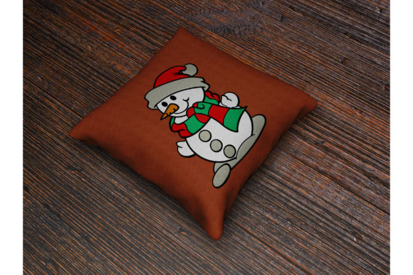 Christmas Snowman Embroidery Download
