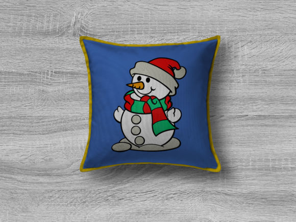 Christmas Snowman Embroidery Item