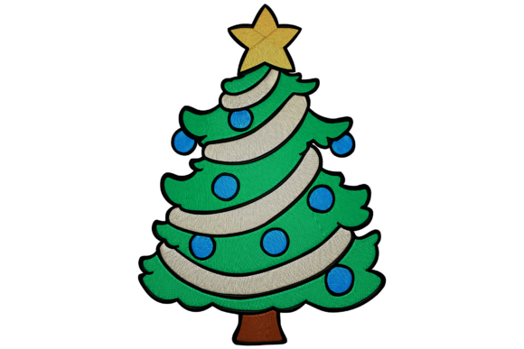 Christmas Tree Christmas Embroidery Design By Digital Creations Art Studio