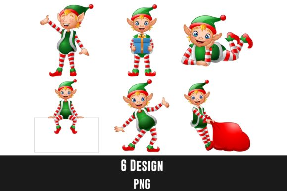 Cute Christmas Little Elves Bundle Graphic Illustrations By creation