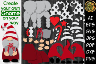 Print on Demand: DIY Gnome Clipart Layered Graphic Illustrations By V-Design Creator