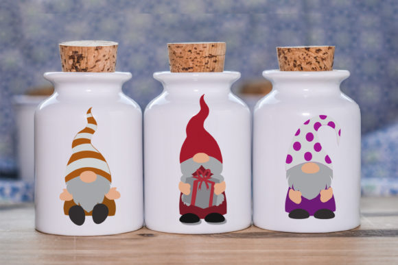 DIY Gnome Clipart Layered Graphic Graphic
