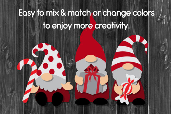 DIY Gnome Clipart Layered Graphic Image