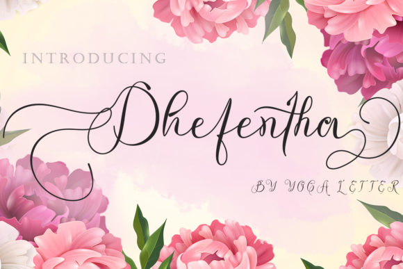 Print on Demand: Dhefentha Script & Handwritten Font By yogaletter6