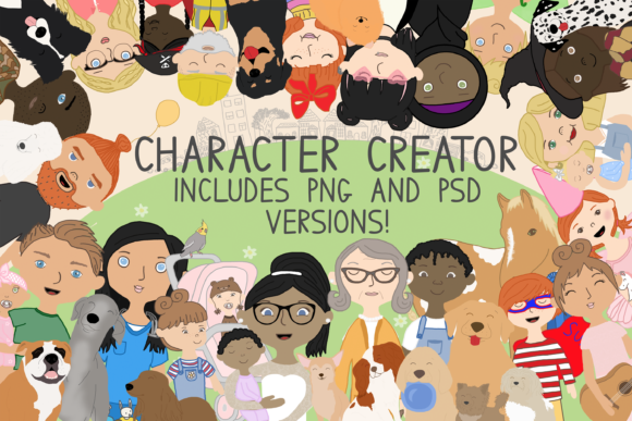 Print on Demand: Family Creator, Family People, Cartoons Graphic Illustrations By CommercialCliparts