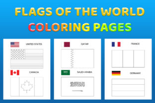 Print on Demand: Flags Coloring Pages Printable for Kids Graphic Coloring Pages & Books Kids By medelwardi