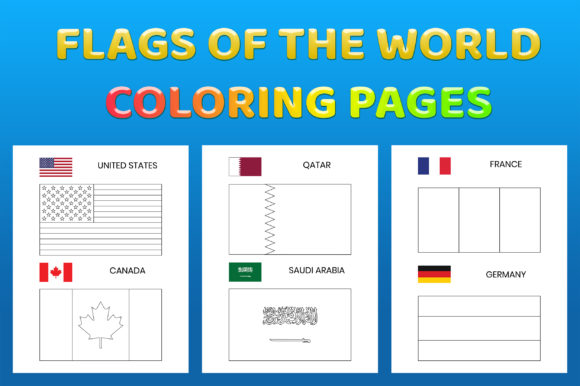 Flags Coloring Pages Printable for Kids Gráfico Libros para colorear - Niños Por medelwardi