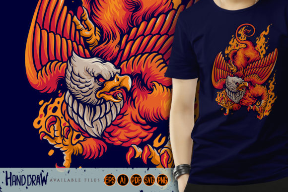 Print on Demand: Flying Mythical Griffin Graphic Illustrations By artgrarisstudio