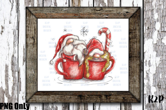 Print on Demand: Sublimation Christmas Gnome Graphic Illustrations By KtwoP