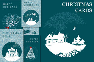 Frozen ChristmasFrozen C. Greeting Cards Graphic Print Templates By AstraDesign