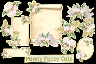 Print on Demand: Fussy Cut Peonies and Tags Graphic Crafts By The Paper Princess