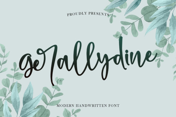 Print on Demand: Gerallydine Script & Handwritten Font By Stefani Letter